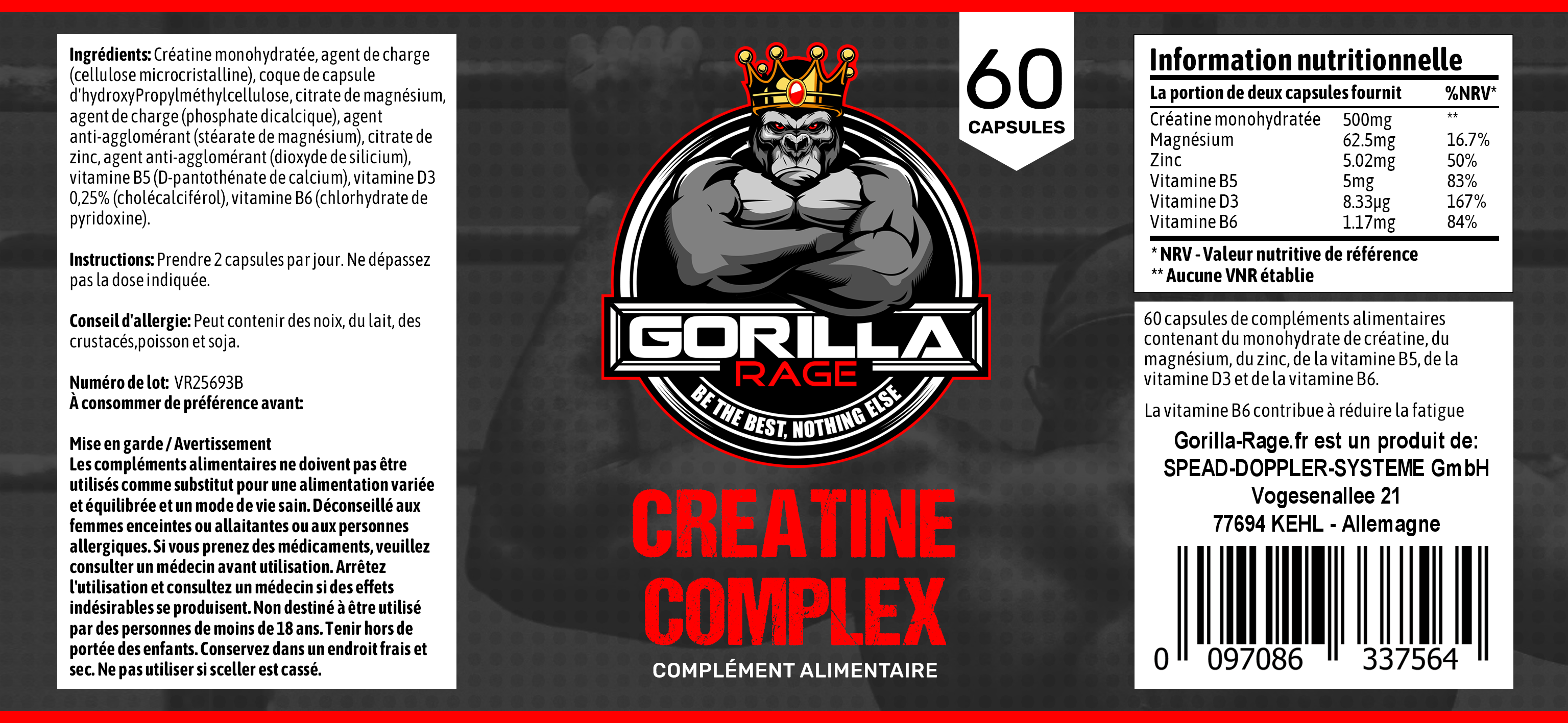 Creatine Complex French Label 3