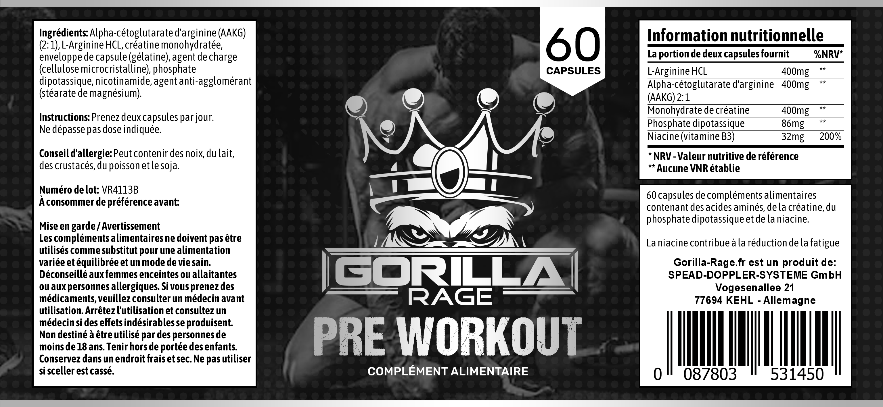 Preworkout French Label 2