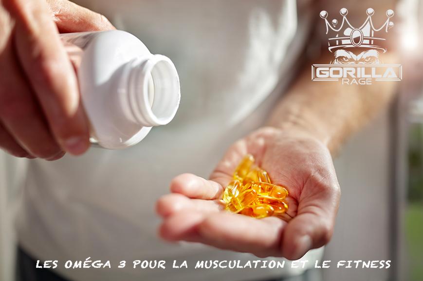 oméga 3 pour la musculation et le fitness